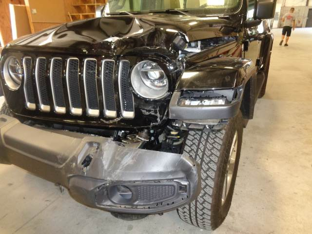 2018 Jeep Wrangler damage to front side.
