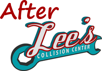 Lee's Collision Center Logo for use with Images of Vehicles After Repairs