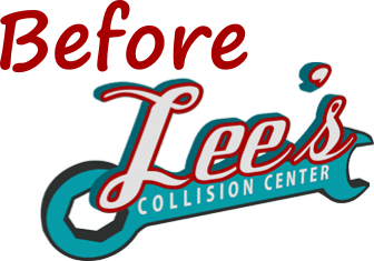 Lee's Collision Center Logo for use with Images of Vehicles Before Repairs